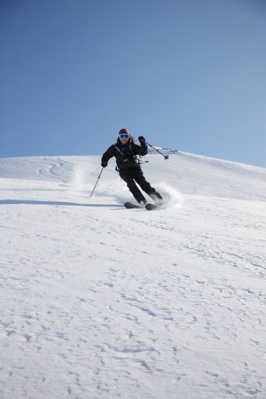 Skiing the Chigmit Volcanoes